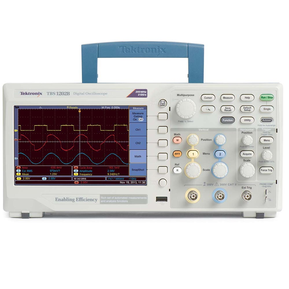 TBS1052B Osciloscópio Tektronix 50MHz 2 Canais