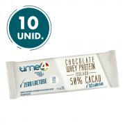 Chocolate Whey Protein 50% Cacau Zero Lactose 10 unidades