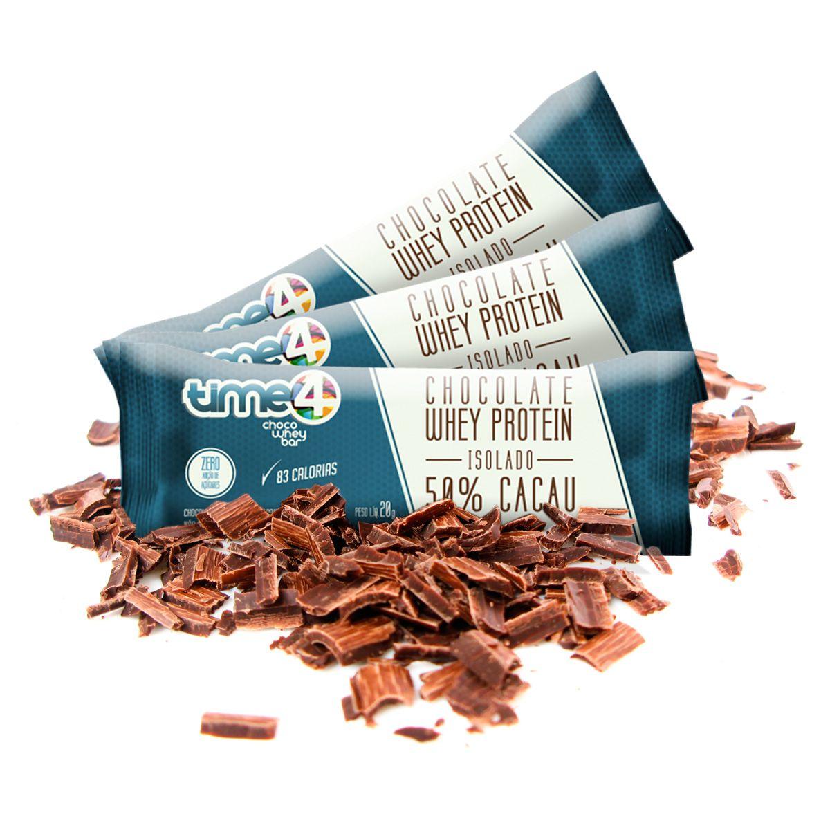 Choco Whey 50% Cacau - 10 unidades.