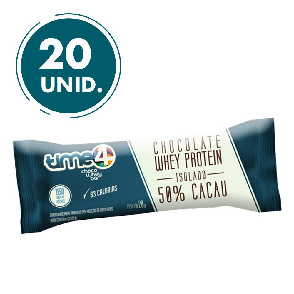Chocolate de Whey Protein 50% Cacau 20 unidades