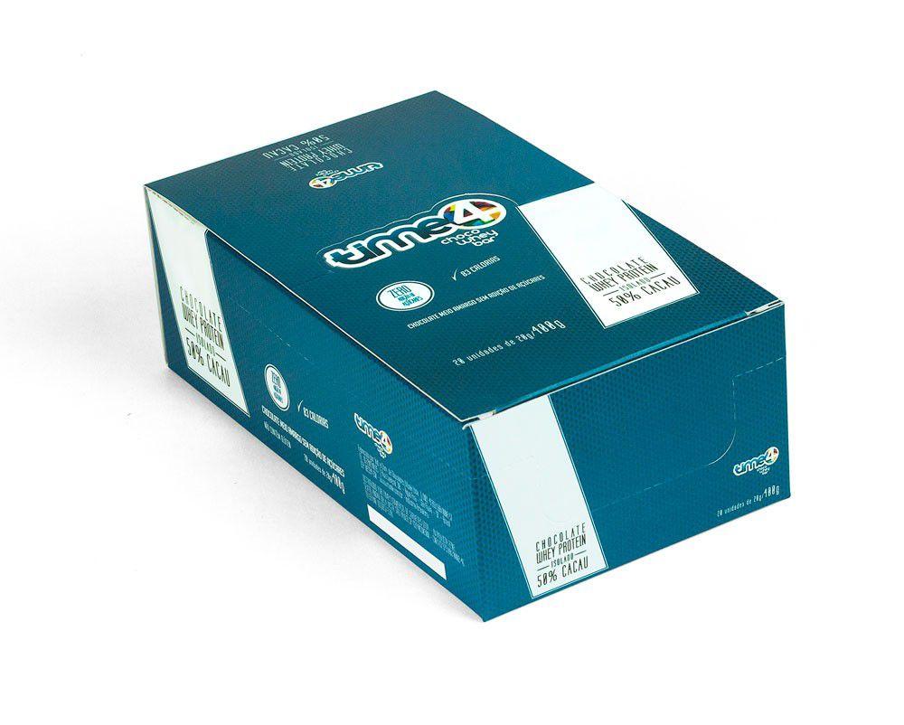 Chocolate Proteico 50% Cacau - Caixa c/ 20 un.