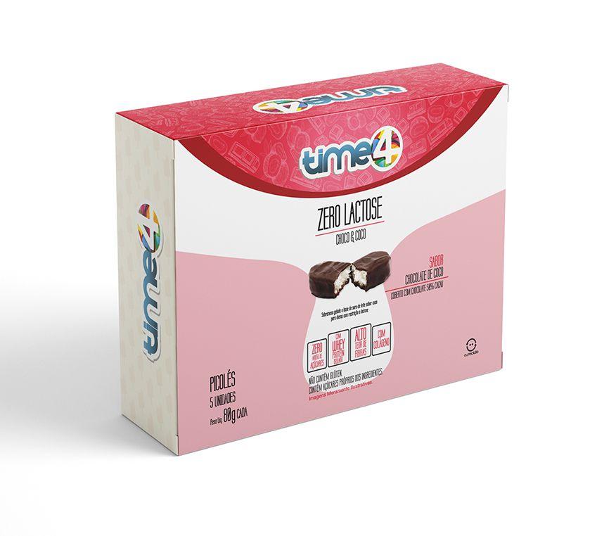 Picolé Zero Lactose Choco&Coco 5 unidades