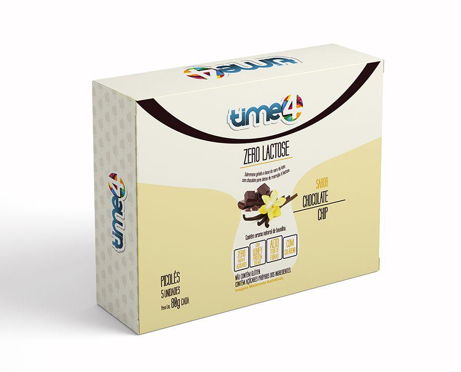 Picolé Zero Lactose Chocolate Chip 5 unidades