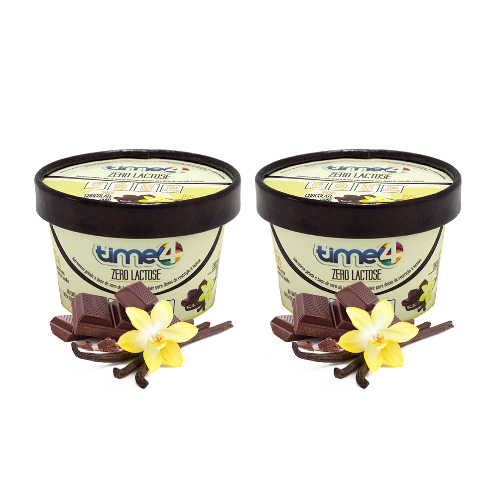 Sorvetes Zero Lactose Chocolate Chip 2 unidades