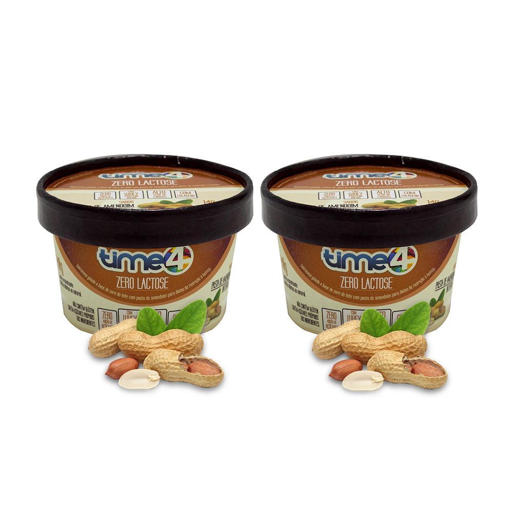 Sorvete Zero Lactose Pasta de Amendoim Integral 2 unidades