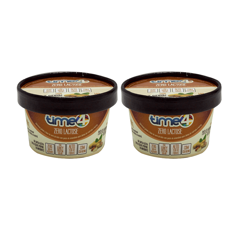 Whey Cream Amendoim Integral Zero Lactose 2 unidades