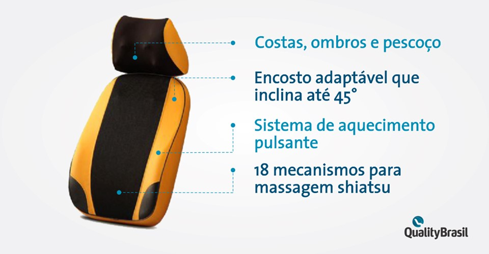 Encosto Massageador BackNeck Gold | Quality Brasil