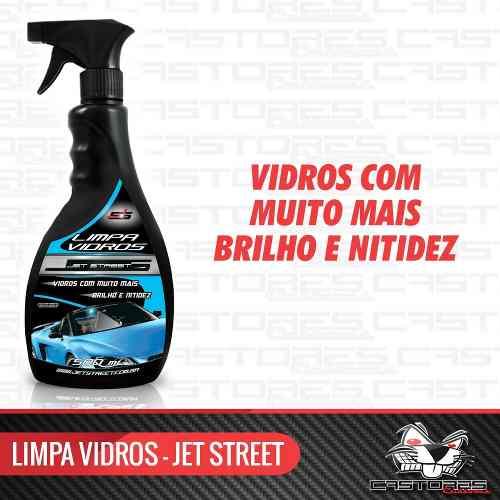 Limpa Vidros, Espelhos, Box 500ml Spray - Jet Street