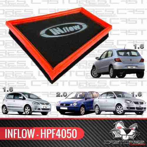 Filtro De Ar Esportivo Inflow Gol 1.6 G5 G6 Polo Fox Hpf4050