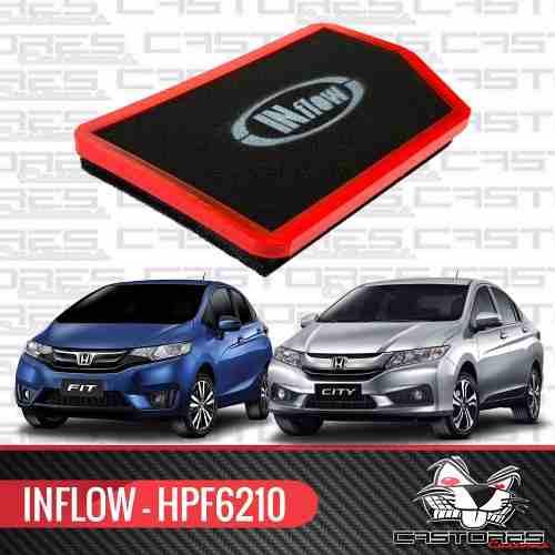 Filtro De Ar Esportivo Inflow Honda Novo City Fit 15 Hpf6210