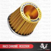 Filtro Ar Esportivo Mono Fluxo Alumínio Dourado Race Chrome