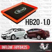 Filtro De Ar Esportivo Inflow Hyundai Hb20 Hb20s 1.0 Hpf8425
