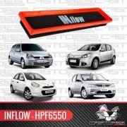 Filtro De Ar Esportivo Inflow Clio Sandero Logan March 1.0 Hpf6550