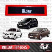 Filtro Ar Esportivo Inflow Clio Sandero Logan 15 Hpf6575