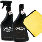 Kit Carnaúba Premium Native Spray E Native Cleaner + Toalha 380gsm