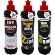 Kit Polimento Profissional Menzerna 300 2400 3000 250ml