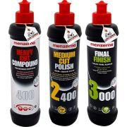 Kit Polimento Profissional Menzerna 400 2400 3000 250ml
