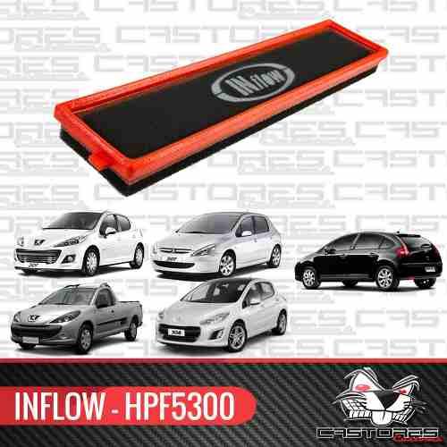 Filtro Ar Esportivo Inflow 307 308 208 Hoggar C4 Hpf5300