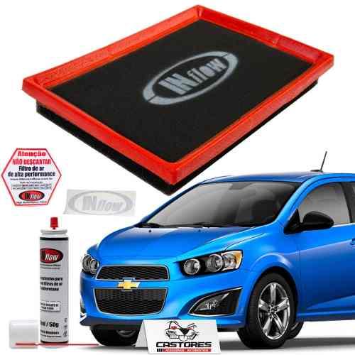 Filtro De Ar Esportivo Inflow Gm Spin Até 2016 / Cobalt até 2016 / Sonic Hpf1950