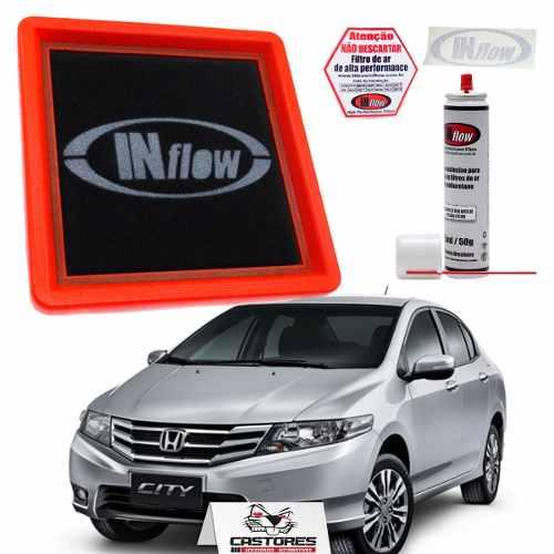 Filtro De Ar Esportivo Inflow Honda Fit 1.4 08 / Fit 1.5 até 14 / City até 13 Hpf6200