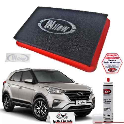 Filtro De Ar Esportivo Inflow Hyundai Creta 1.6 2.0 Hpf8500