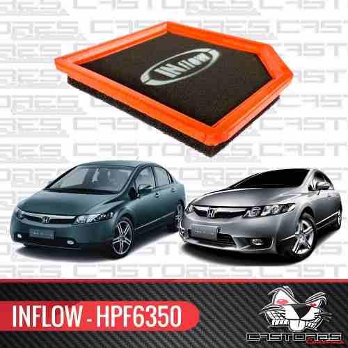 Filtro De Ar Esportivo Inflow Honda New Civic 1.8 Hpf6350