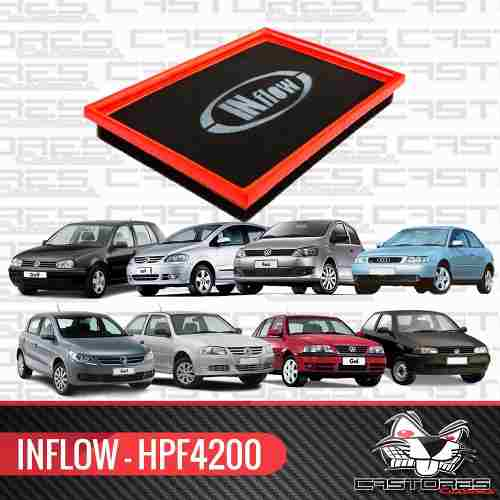 Filtro De Ar Esportivo Inflow Hpf4200 Vw Gol G2 G3 G4 G5 1.0