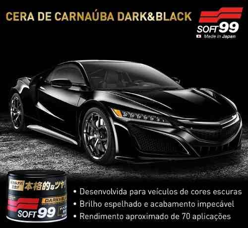 Cera De Carnaúba Dark & Black Premium Cores Escuras Soft99