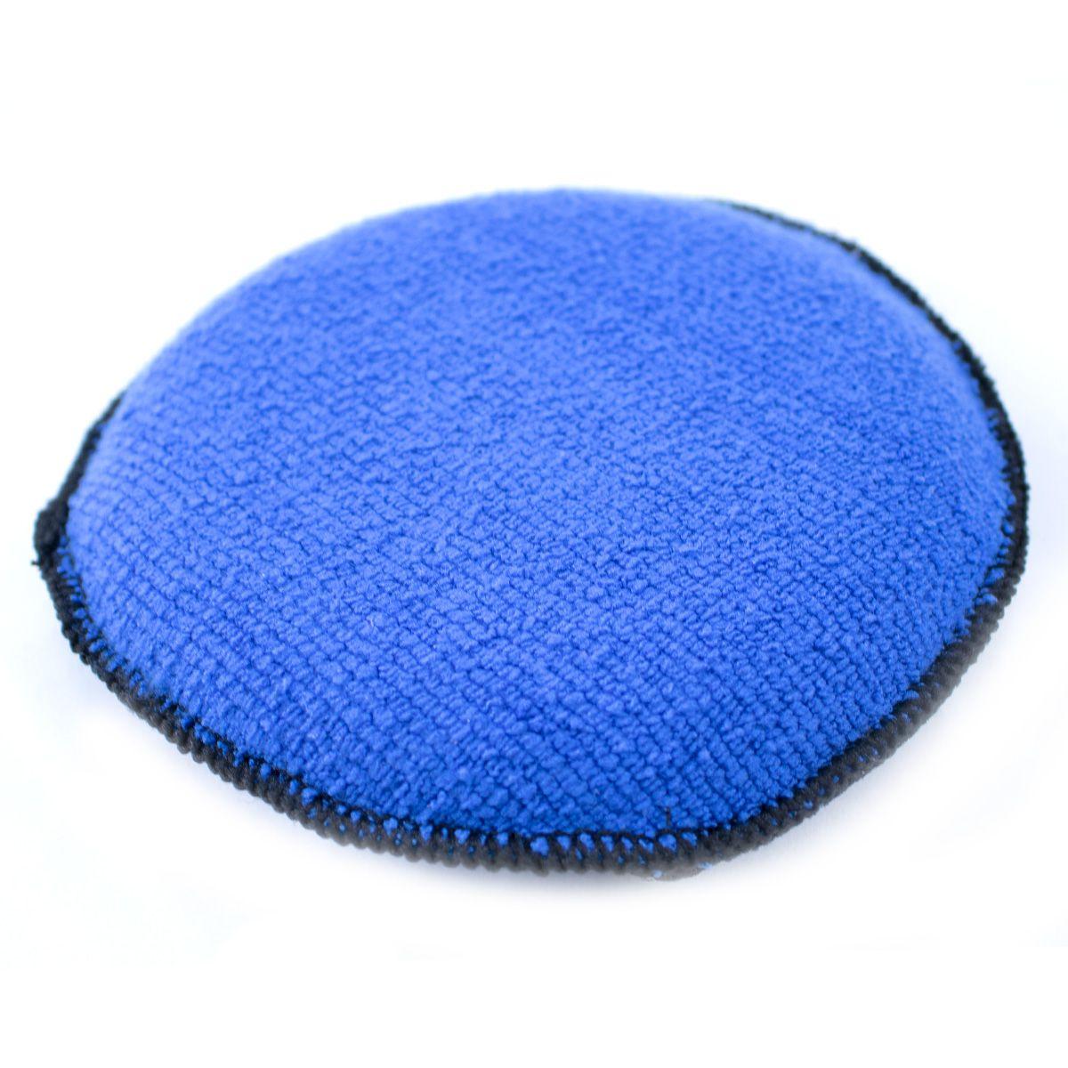 Aplicador de Microfibra Redondo 2x1 Azul Detailer