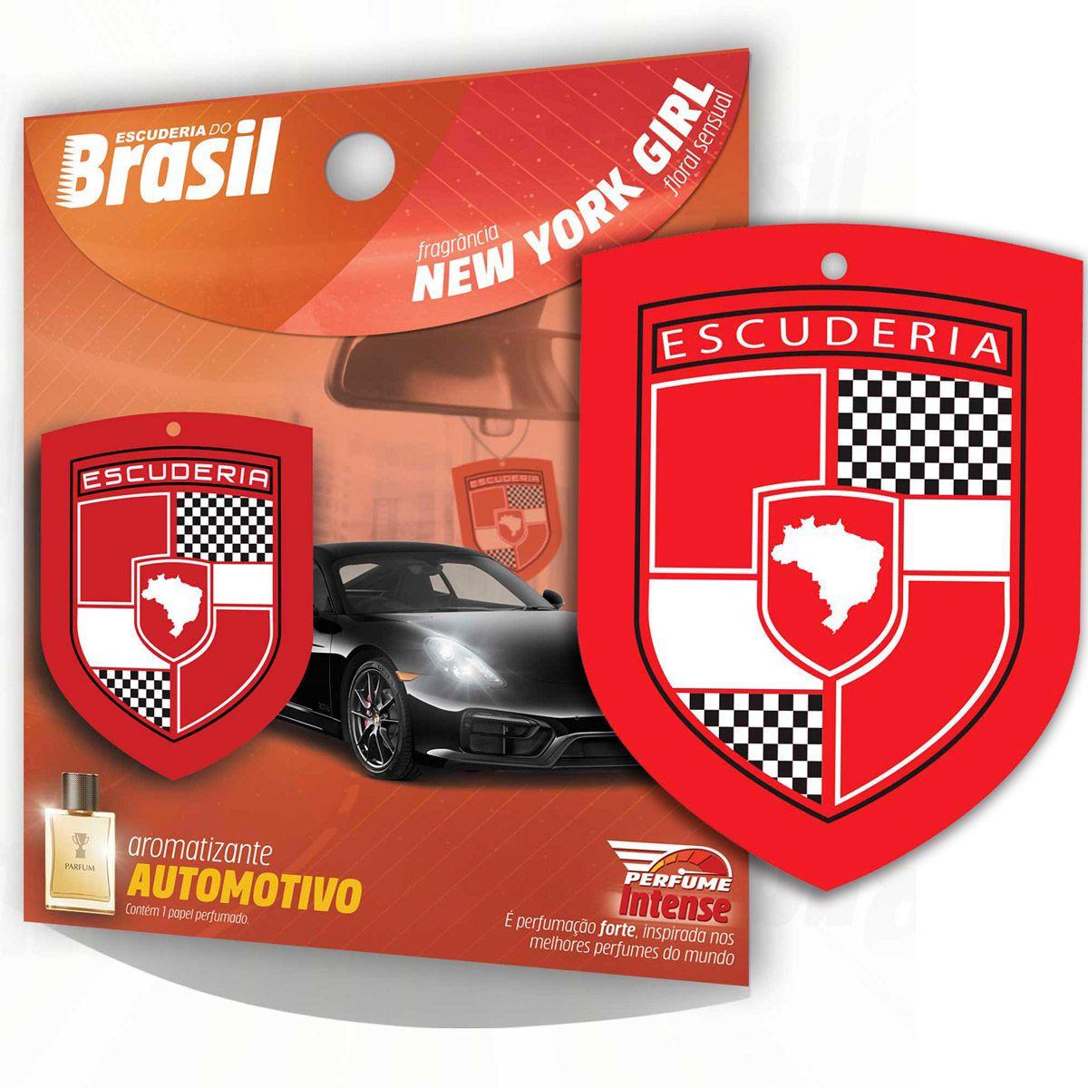 Aromatizante Automotivo Escuderia Brasil - New York Girl