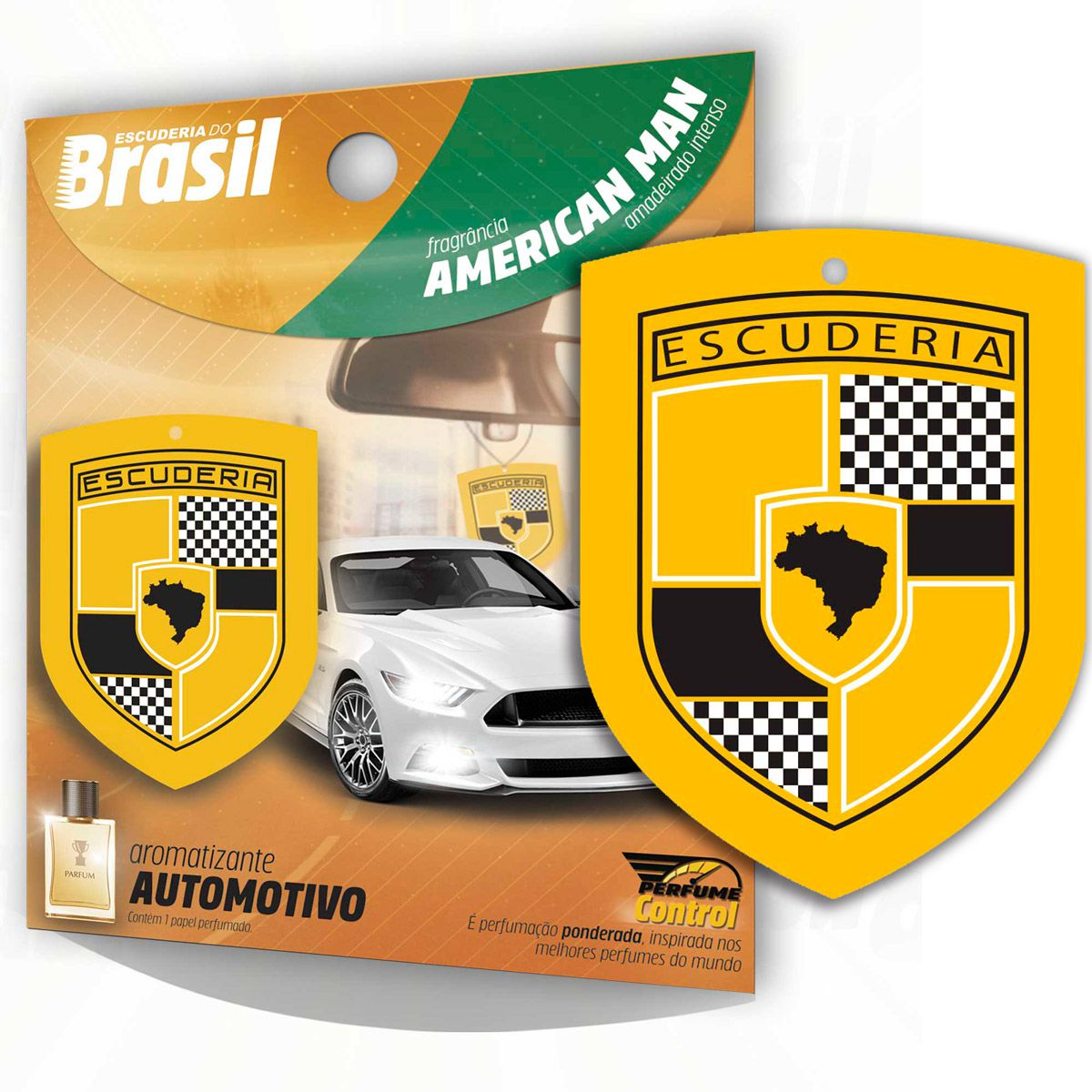 Aromatizante Automotivo Escuderia Brasil - Perfume American Man