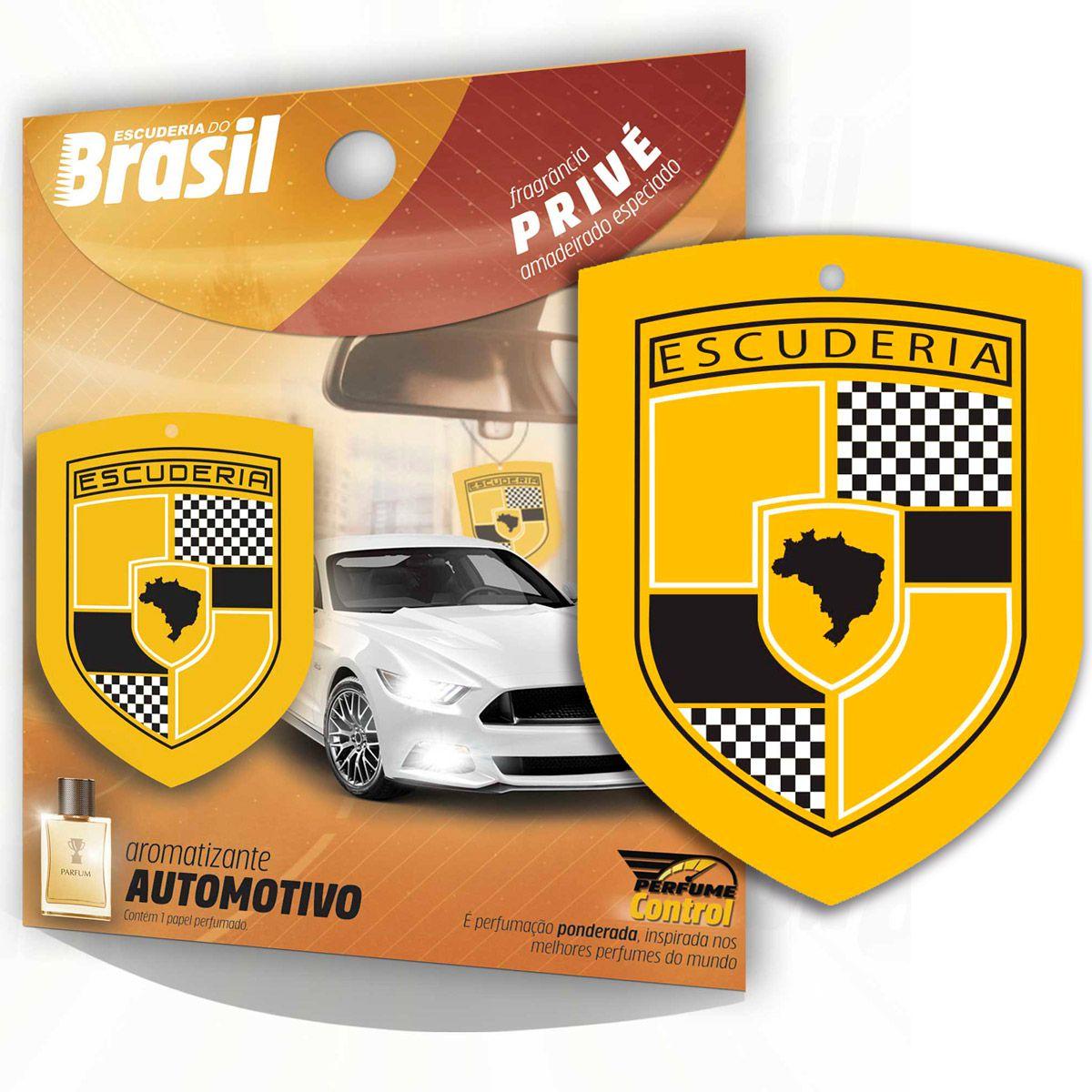 Aromatizante Automotivo Escuderia Brasil - Perfume Prive