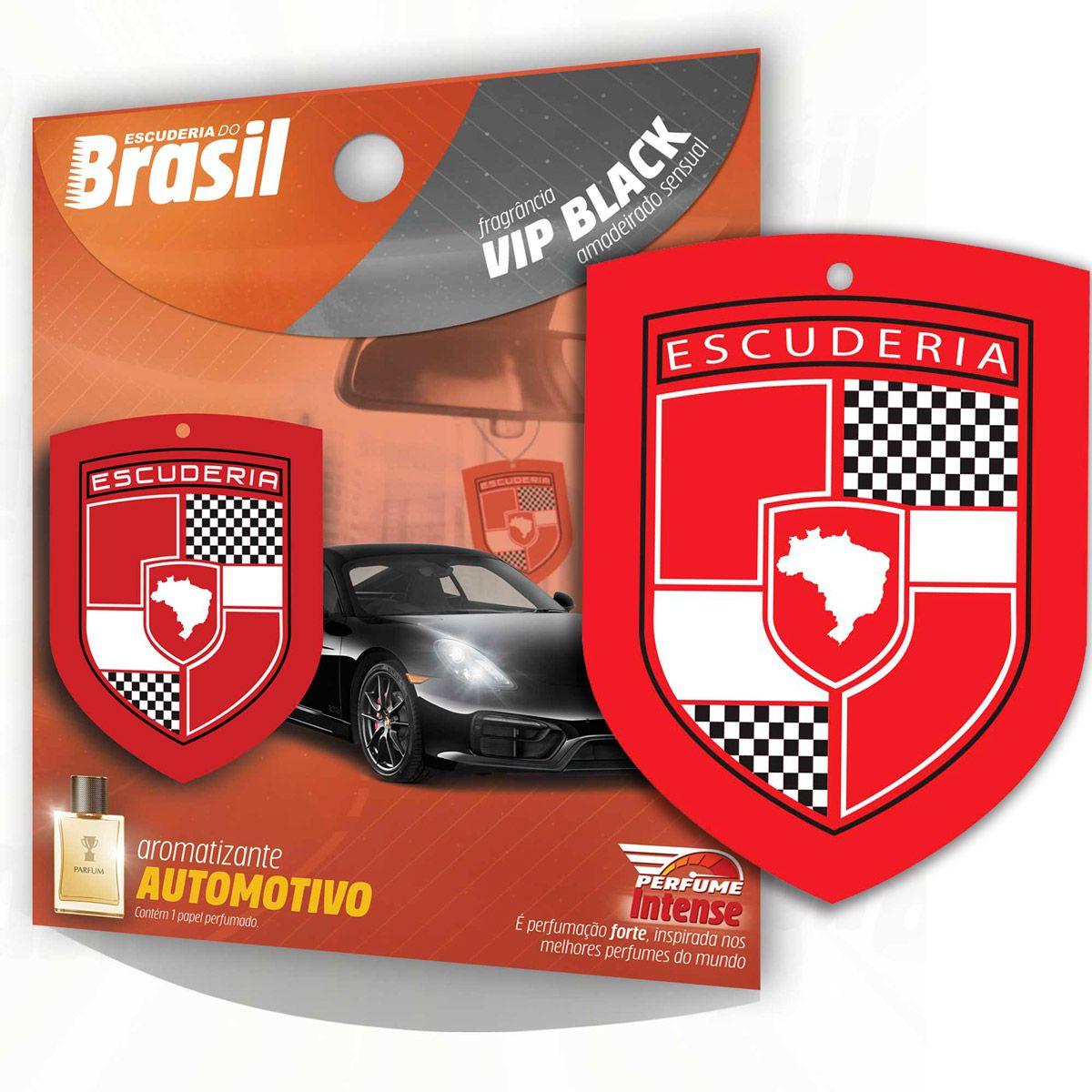 Aromatizante Automotivo Escuderia Brasil - Vip Black