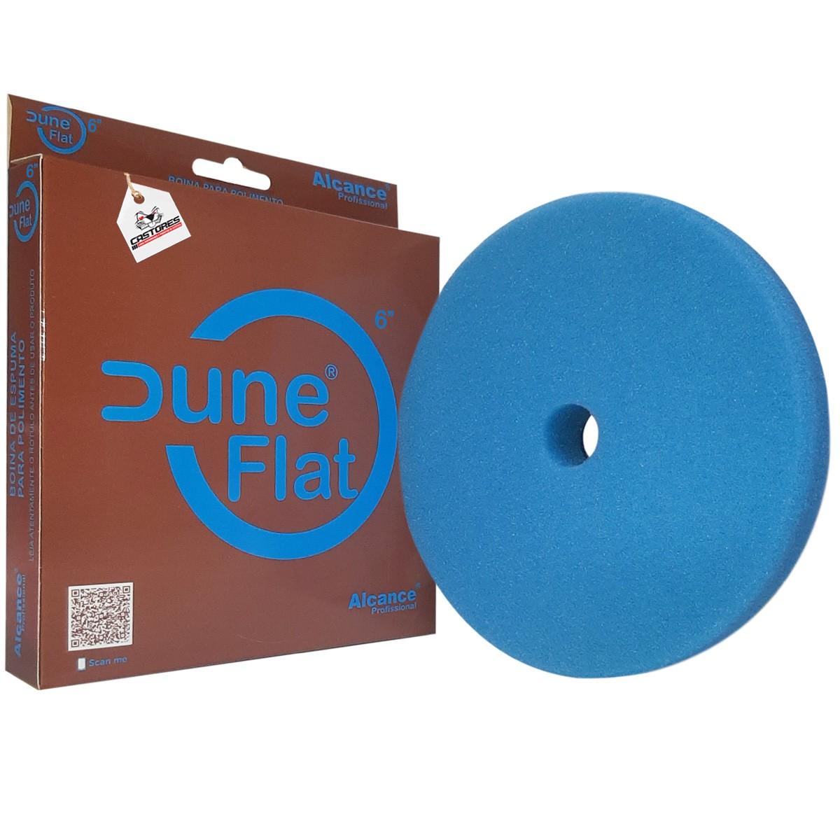 "Boina de Espuma  Super Agressiva Dune Flat Azul 6"" Corte  - Alcance Profissional"