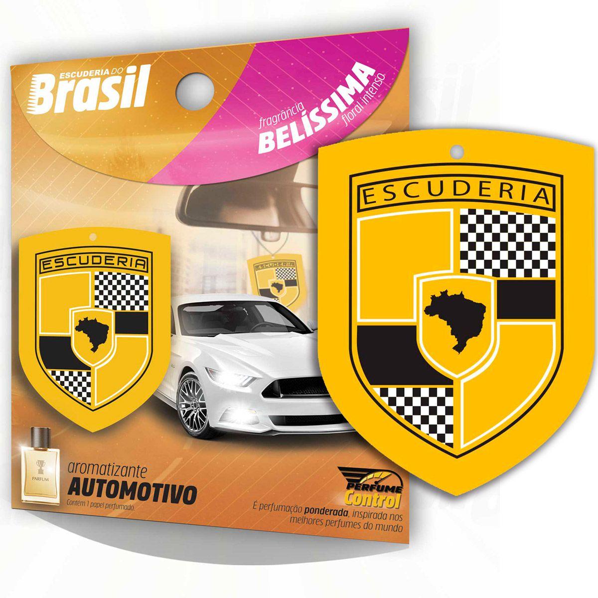 Aromatizante Automotivo Escuderia Brasil - Perfume Belíssima
