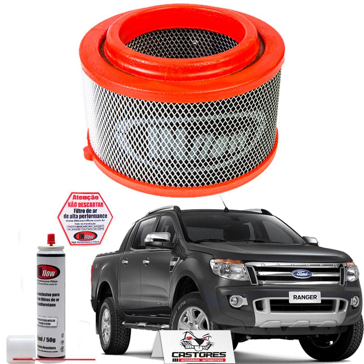 Filtro De Ar Esportivo Inflow Ranger 2.2 / 3.5 / 3.2 20v 2012+ Hpf2755