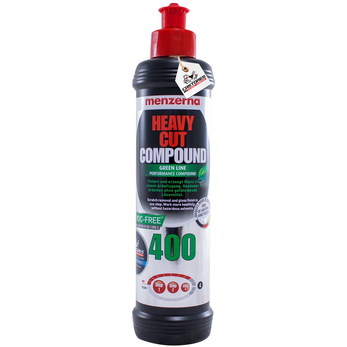 HEAVY CUT 400 GREEN LINE MENZERNA  - 250ML