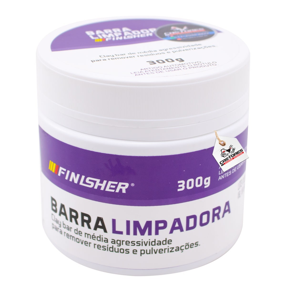 Kit Clay Bar Barra descontaminação 300g + Lubrificante Finisher