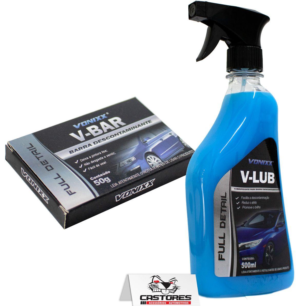 Kit descontaminação da pintura v-bar 50g + v-lub vonixx