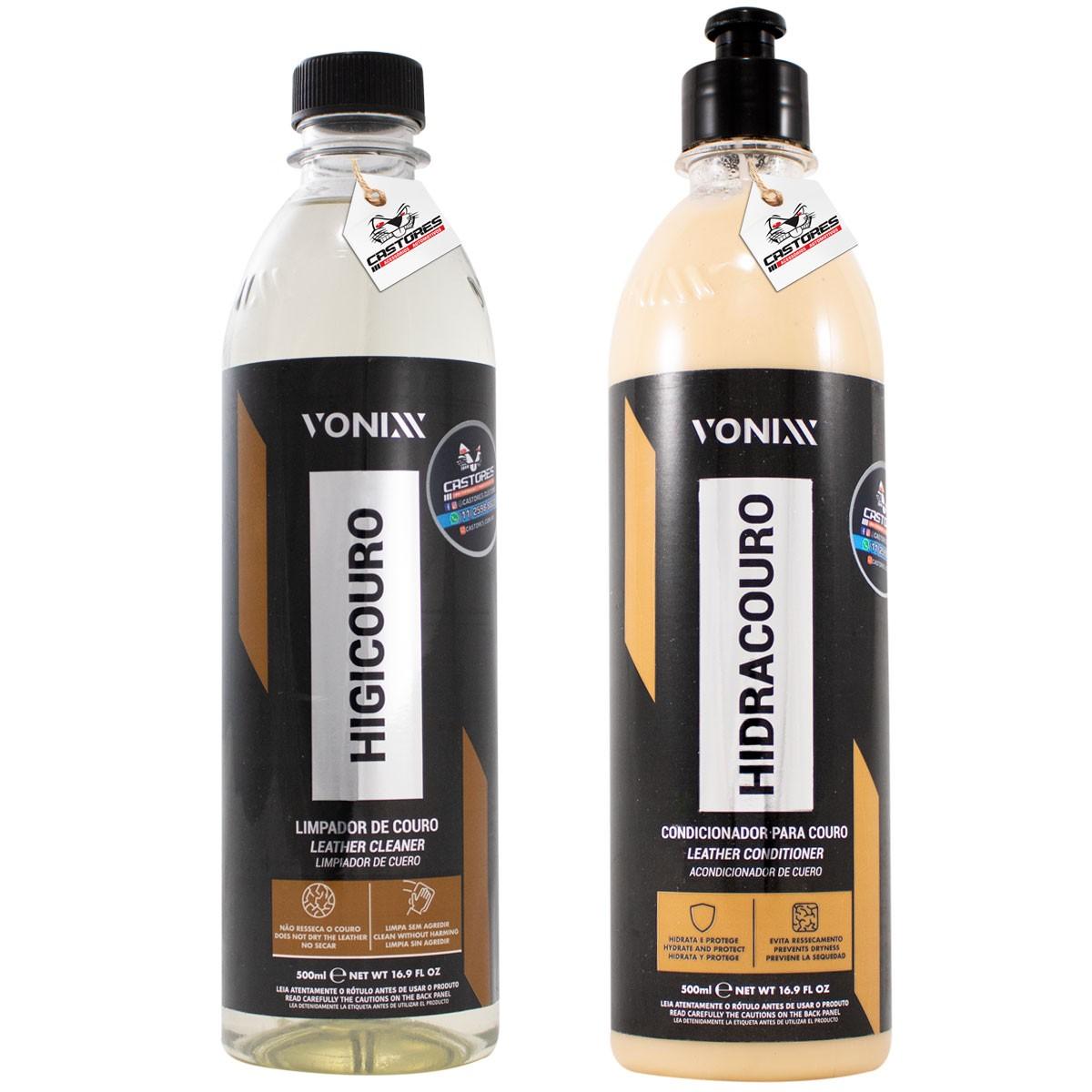 Kit Limpeza e Hidratação de couro Higicouro Hidracouro Vonixx 500ml
