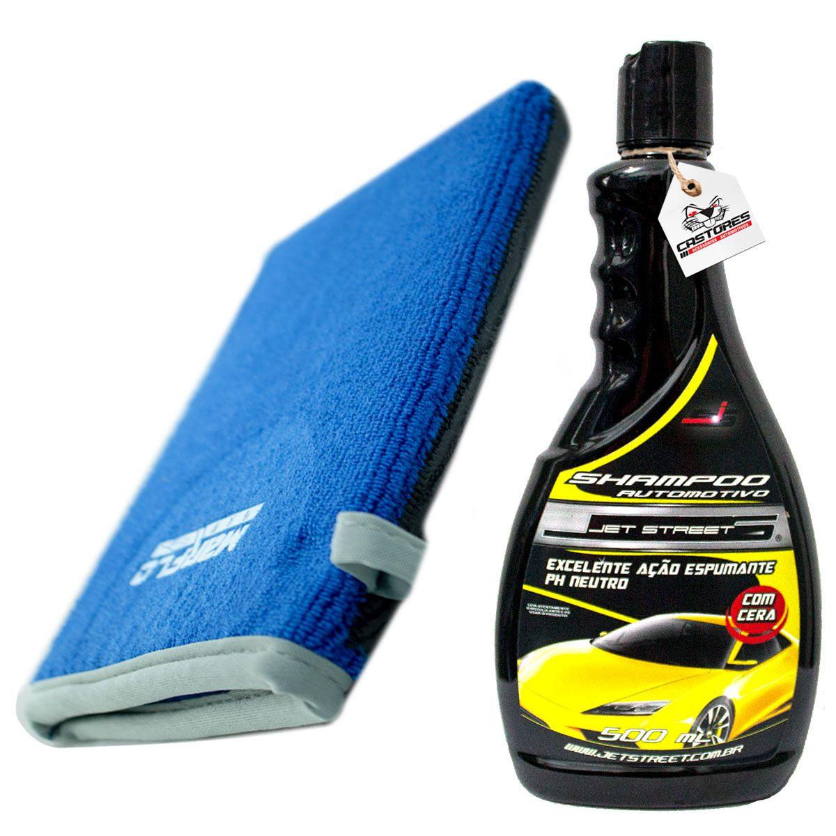 Kit Luva Claybar Descontaminante + Shampoo Jetstreet