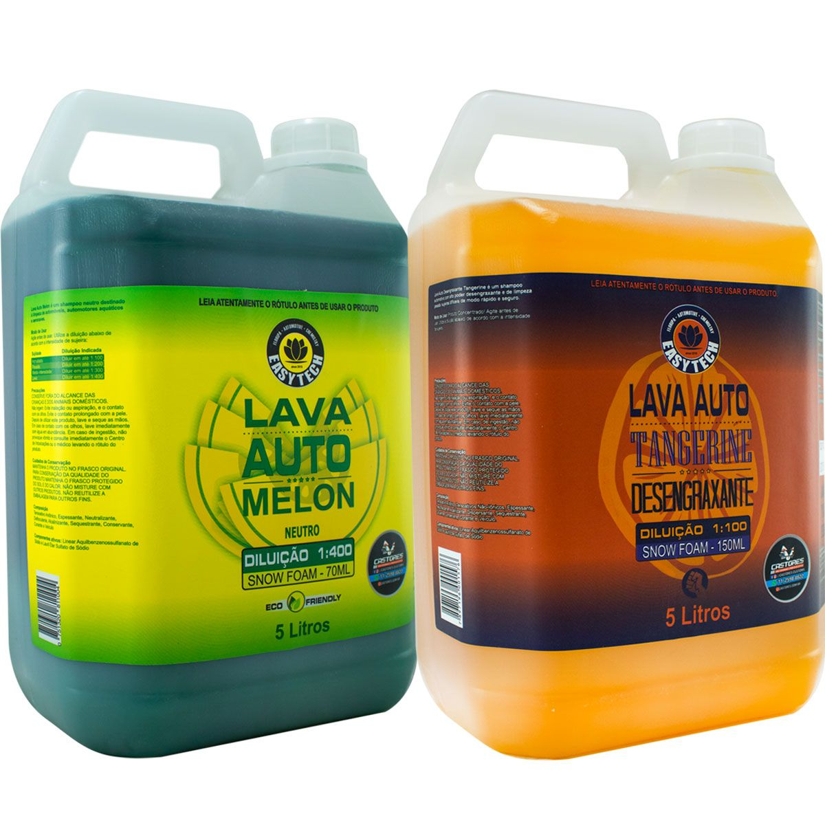 Kit Shampoo Easytech Lava Auto Melon Tangerine 05 Litros