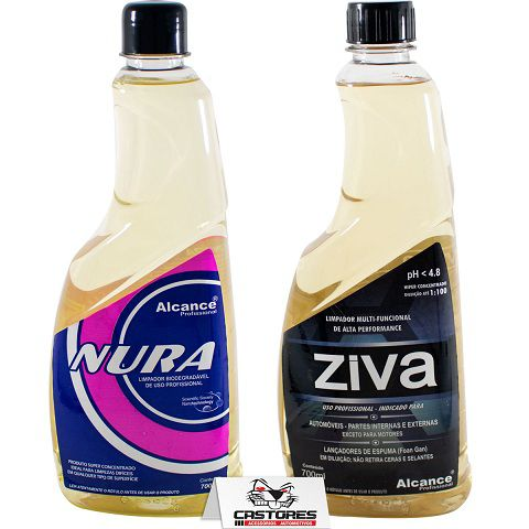 Kit Ziva + Nura Limpador Apc Alcance Profissional 700 Ml