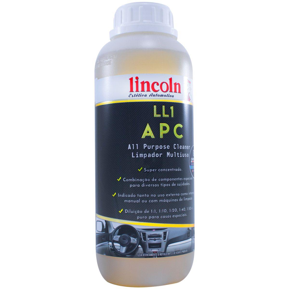 LL1 APC Limpador Multiuso Concentrado Lincoln - 1 Litro