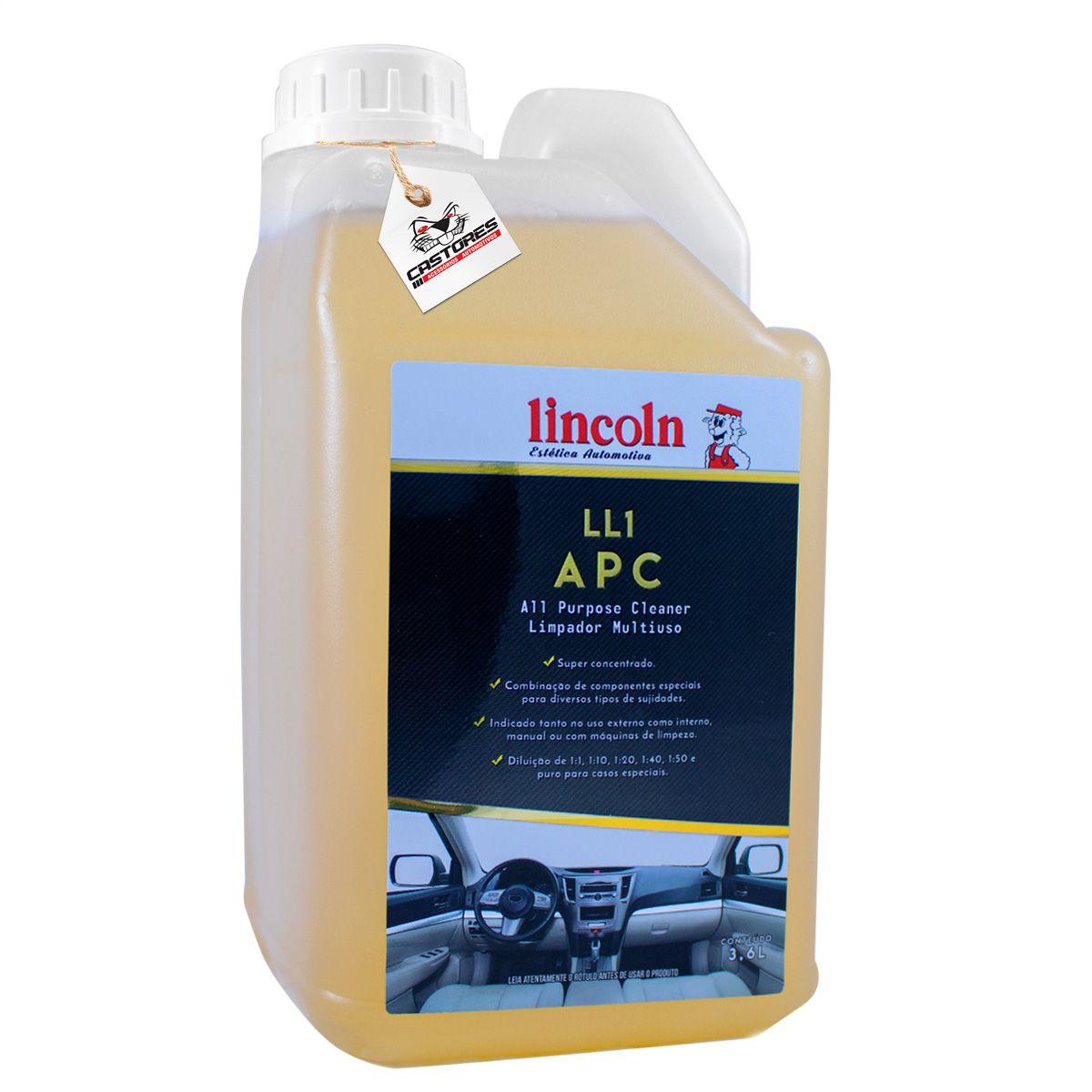LL1 APC Limpador Multiuso Concentrado Lincoln - 3,6l