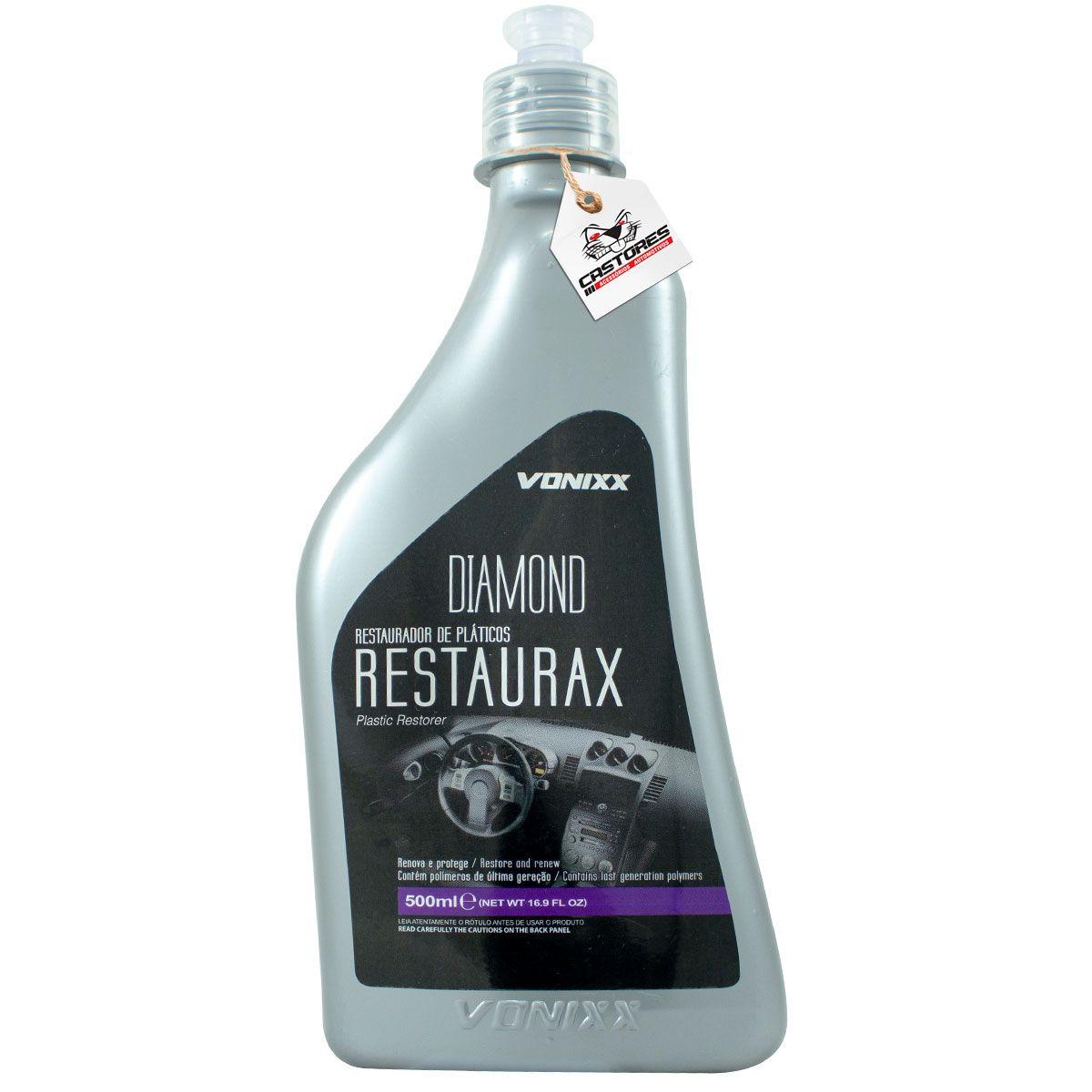 Revitalizador Plásticos Vonixx Restaurax Renova E Da Brilho