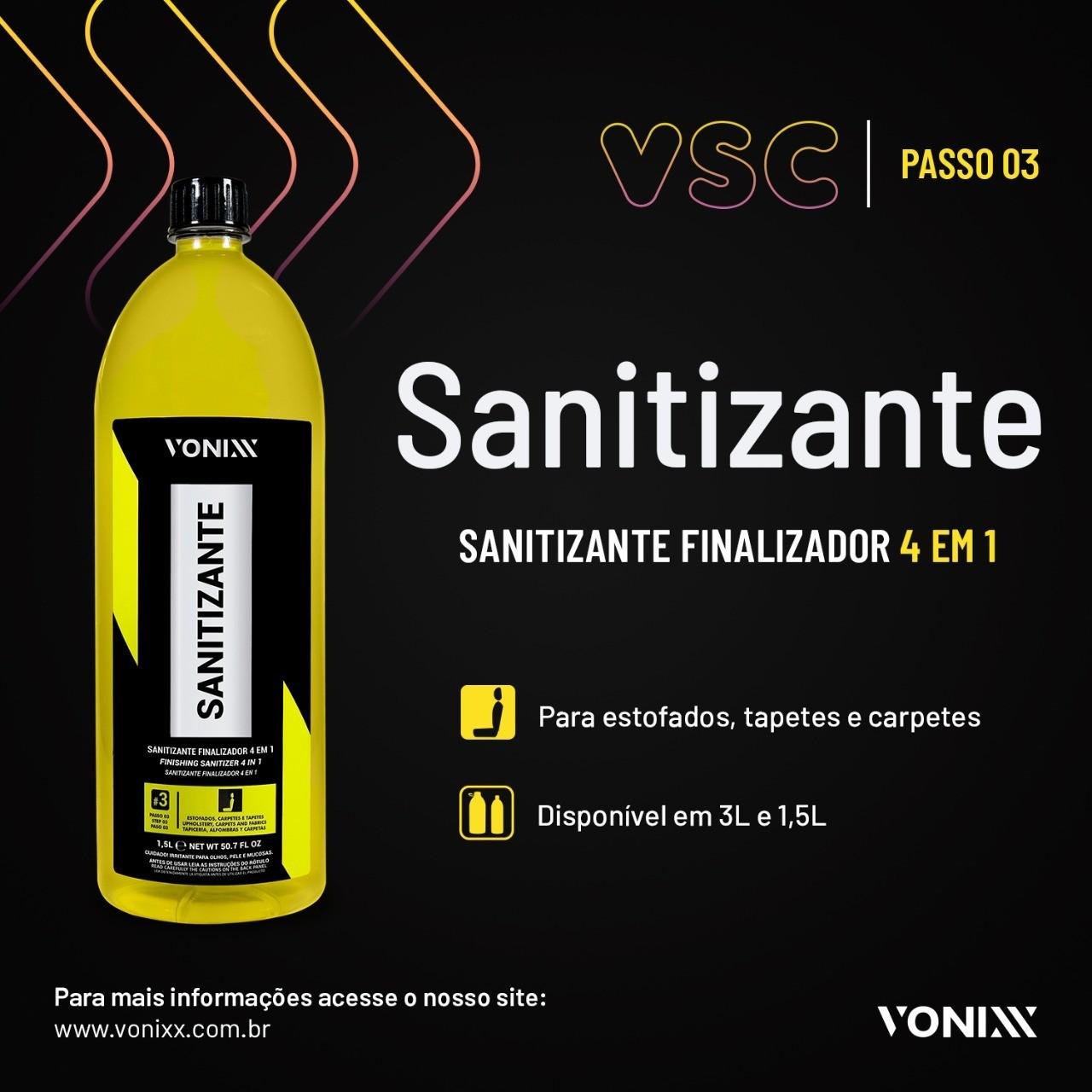 Sistema VSC Vonixx 3L - Higienização Interior Full Detail