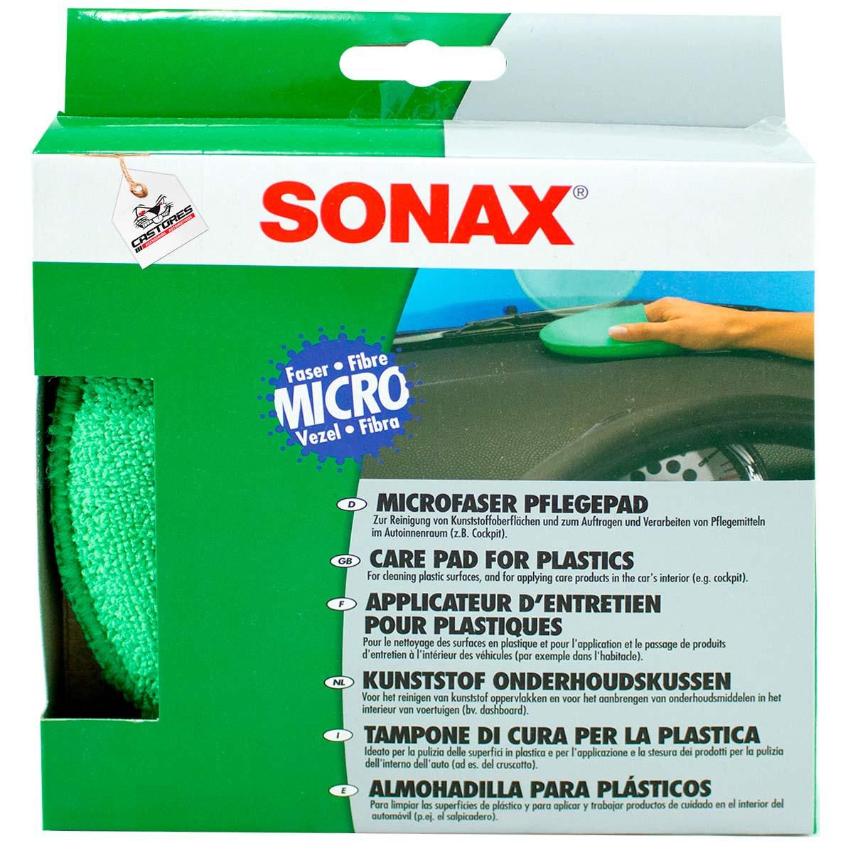 Sonax Aplicador De Microfibra Redondo Com Encaixe Para Os Dedos