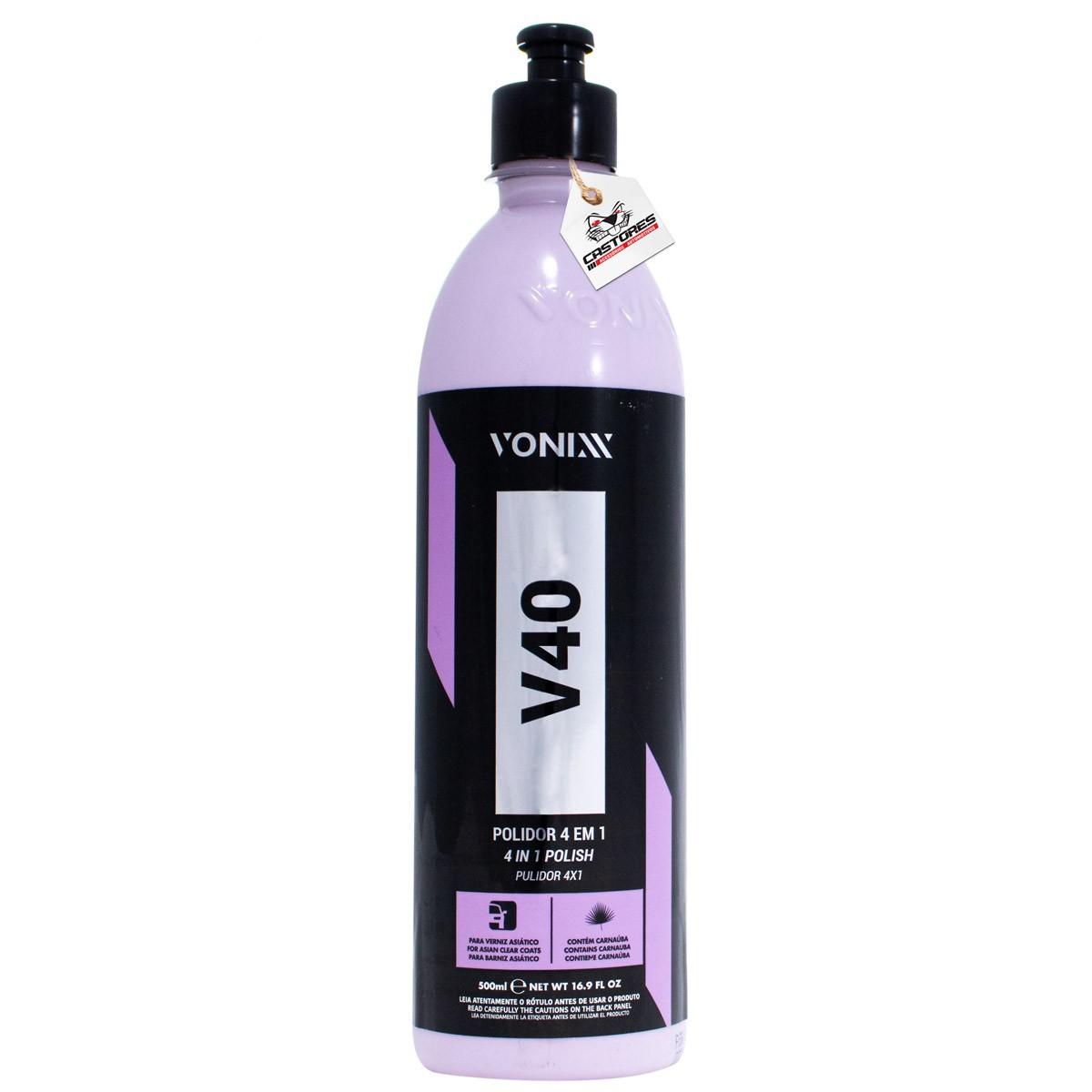 V40 Polidor 4 Em 1 Corte Refino Lustro Proteção Vonixx 500ml