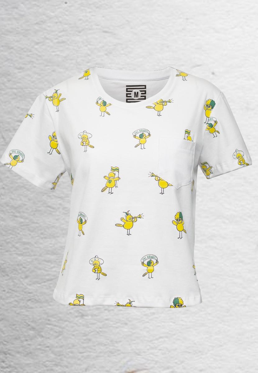 Camiseta Canarinho BR (Feminino Adulto)